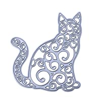 Broadroot Old Cat DIY Cutting Dies Cut Metal Scrapbooking Stencils for Photo Album Paper Card