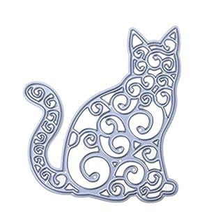 Broadroot Old Cat DIY Cutting Dies Cut Metal Scrapbooking Stencils for Photo Album Paper Card