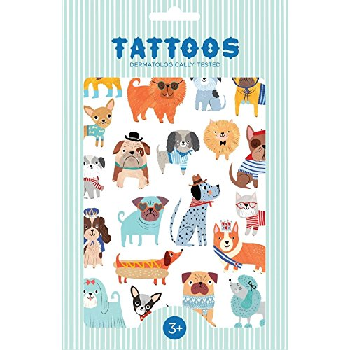 Jellycat Tattoos Perritos, Mehrfarbig (Petit Monkey TT03)