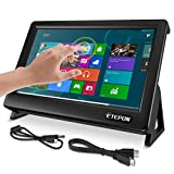 ETEPON Capacitive Touch LCD Display HDMI Input 1024× 600 with Case Stand for 7 Inch Raspberry Pi Screen (EP711)