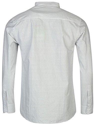 Pierre Cardin Herren Freizeit-Hemd Weiß Gestreift