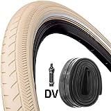 Continental Reifen Ride Classic E25 Draht 28x1,4 + Schlauch 37-622 Creme Reflex