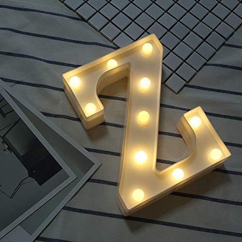 Beonzale Fernsteuerungsalphabet-Buchstabe-Lichter LED leuchten weißem Plastikbuchstaben-Stand