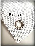 TUTTOPERGOLE Fascia in PVC OMBREGGIANTE per Copertura Gazebo in Metallo (Cm 300 X Cm 45, Bianco)
