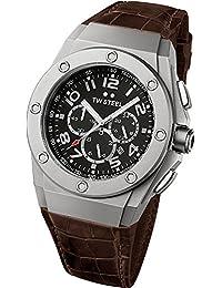 TW Steel CE4014 - Reloj de cuarzo unisex, con correa de cuero, color marrón