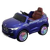COSTWAY Elektroauto Elektrofahrzeug Kinderauto Maserati Kinderfahrzeug mit Fernbedienung (Blau)