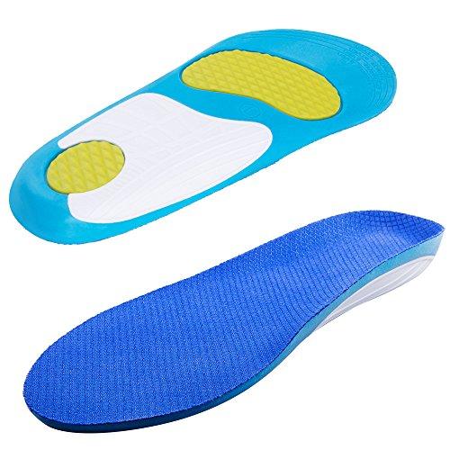WEYN Einlegesohlen für Sport gel Schmerzlinderung für Männer, im Freien in voller Länge Arch Unterstützung Gel-Einsätze (Größe 41-46) (Voller In Länge-unterstützung)