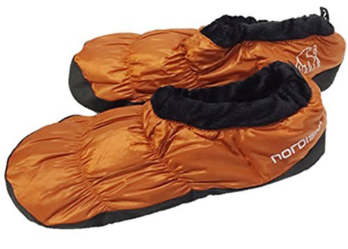 Nordisk Mos Down Shoes Daunenschuhe Schuhe, Red Orange Size M -