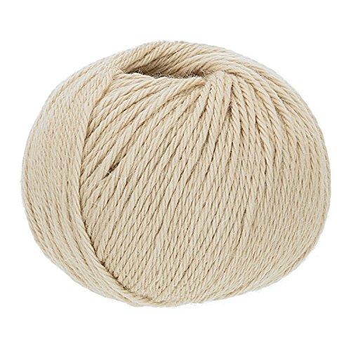 300g (6x50g) fairalpaka BULKY Baby Alpaka Wolle Strickwolle | 100% Alpakawolle (NFA02 Beige)