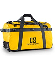 Capital Sports Travel Journ bolsa de viaje (90 l, tejido impermeable, dos ruedines, asa extraíble, espaldera y base reforzadas, apertura forma D, material robusto)