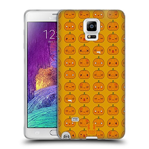 �rbis Muster Halloween Kawaii Soft Gel Hülle für Samsung Galaxy Note 4 (Einfach Kürbis-designs)