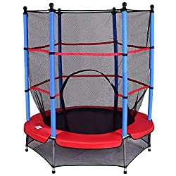 COSTWAY trampoline with safety net | Garden trampoline | Child Trampoline | Fitness trampoline | Indoor / outdoor trampoline jump mat Ø140cm