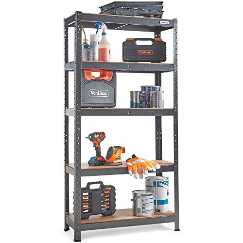 VonHaus 5 Tier Garage Shelving – Metal Racking, Steel for sale  Delivered anywhere in Ireland