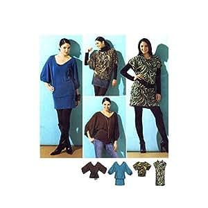 Simplicity 2804 Patron de couture Robe avec ceinture Taille Full Figurine 14–22 Buste 36–44 Par la simplicité