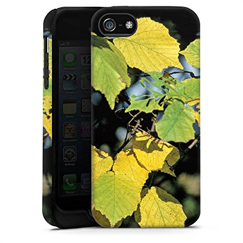 Apple iPhone X Silikon Hülle Case Schutzhülle Blätter Herbst Birke Tough Case matt