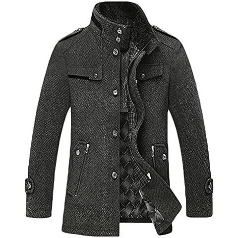 NiSeng Chaqueta Estilo Blazer Abrigo de caballero Ropa de invierno Cazadoras y Abrigos para hombre