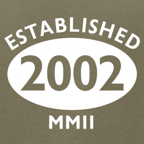 Gegründet 2002 Römische Ziffern - 15 Geburtstag - Herren T-Shirt - 13 Farben Khaki