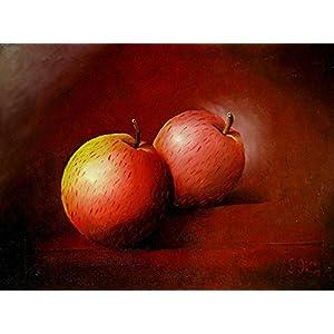 Ölgemälde - zwei Äpfel - 40 x 30cm - Unikat