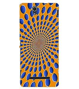 ColourCraft Illusive Design Back Case Cover for SONY XPERIA C3 D2533