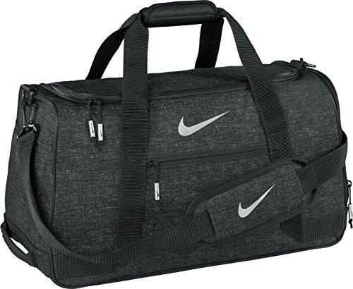 Nike Sport Duffle III–Golftasche, Unisex – Erwachsene, Sport III Duffle Bag, Schwarz/Silber, Einheitsgröße