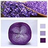 Gereton Multicolor Baumwolle Garn Kuchen Gradient Space Dye dünne Baumwolle Garn, fusselfrei, für handgewebte DIY Schal Schal Pullover Rock Kleid (616 m)