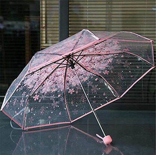 treestar Fashion transparente Shade Frilly Show encanto temperamento pasear al aire libre para señoras atraer el ojo de la paraguas 1pcs, Amarillo, 80 cm