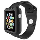 Gaddrt Ultra-Slim gel de silice mignon protéger housse pour Apple Watch série 1 42 mm (Noir)
