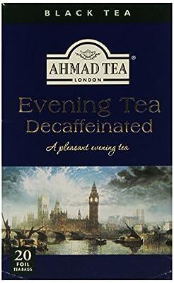 Ahmad Tea - Thé Noir Sachet Ahmad Tea - Décaféiné Evening Tea - Thé Noir - Boitex20 sachets