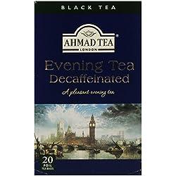 Ahmad Tea – Evening Tea Decaffeinated | Entkoffeinierter Tee | 20 Teebeutel á 2 g | Teebeutel mit Band