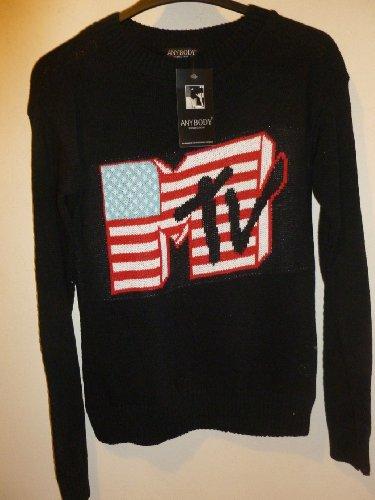 mtv-black-female-sweater-unique-size