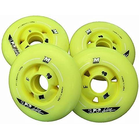8 St. MATTER SUPER JUICE Inline Skate Wheels, 90mm - 110mm, F1 - High Rebound!, Size: 90mm (F1)