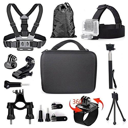TEKCAM Action-Kamera-Zubehör-Set für GoPro Hero 5Black, Akaso EK70004K Crosstour Wimius Campark Victure Apeman Sport