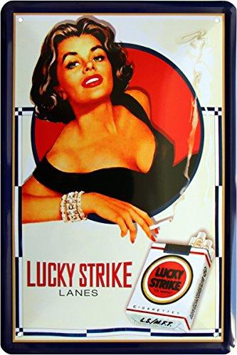 Lucky Strike sigarette tabacco reklame pubblicità 20x 30cm Targa in metallo 1578