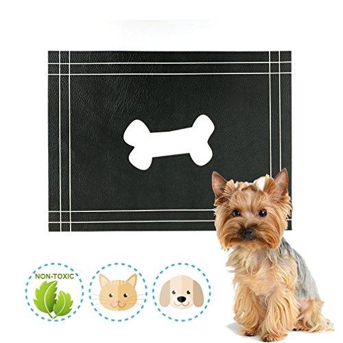 Qingbei Rina Dog Cat Food Futtermatte |Digital Print und Niedliche Original Design |Flexible, Wasserdicht Pet Food Mat|12X 40,6cm