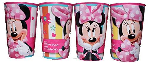 """Disney - set di 4 bicchieri, soggetto """"minnie mouse"""