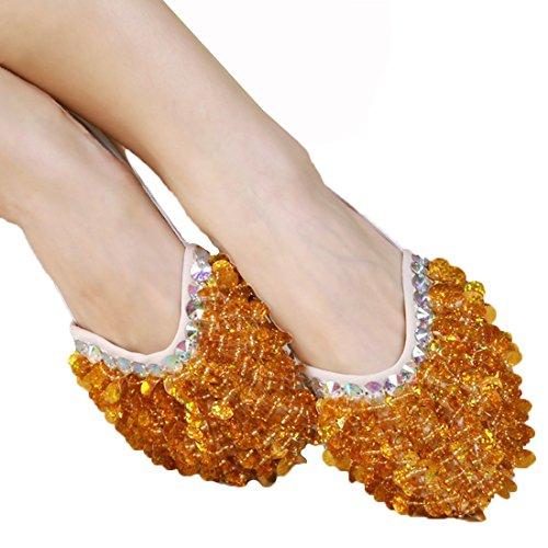 Kostüm Ballet Schuhe - Calcifer® Marke New Bauch/Ballet Dance Schuhe Kostüm Geschenk für Big Party Weihnachten, gold