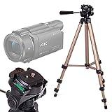 DURAGADGET Treppiede Pieghevole e Rotante per Videocamera Somikon DV-812.HD | Sony FDR-AX33 | FDR-AX53 | DR-CX240E | HDR-PJ410 | Stoga HD - 43-125 cm - Alta qualità