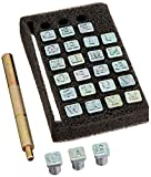 """Leather Factory Easy To Do Series Stamp Set Alphabet 1/4"""" 4903-01"""