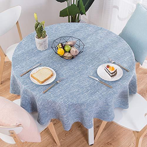 XJ&DD Stoff-tischdecke,Volltonfarbe Baumwolle Einfache Runde Für Coffee Table Esstisch Home Hotel-A 140cm(55inch)