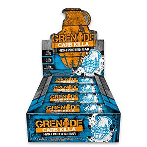 Grenade Carb Killa High Protein e Low Carb Bar, 12 x 60 g - Biscotti e crema 8 spesavip