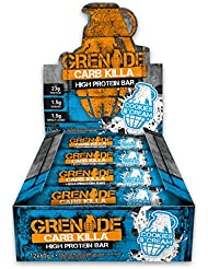 Grenade Carb Killa Cookies and Cream High Protein and Low Carb Bar, 12 x 60 g