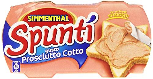 Simmenthal - Spunti', Gusto Prosciutto Cotto - 2 confezioni da 2 pezzi da 84 g [4 pezzi, 336 g] - Maiale Cotto