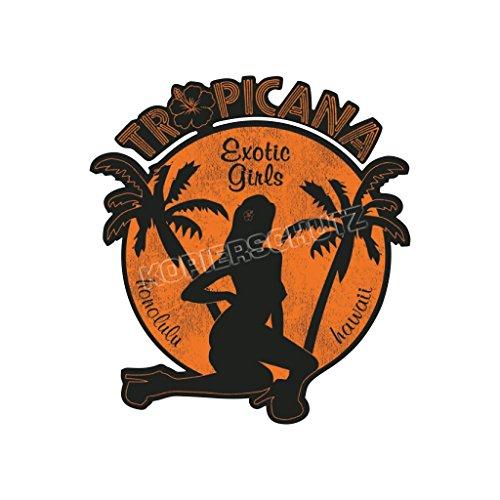 Porn Deluxe Aufkleber/Sticker Tropiana Exotic Girls (10cm) -