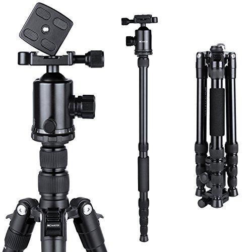 BC-Master-Trpode-Cmara-Rflex-Aluminio-Profesional-Monopi-de-Viaje-2-en-1-con-360-Cabezal-de-Bola-para-Canon-Nikon-Sony-Cmara-DSLR-y-Videocmara-150CMTA543M