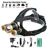 LED Super helle Stirnlampe, Wasserdichte LED Kopflampe, Verstellbare Scheinwerfer Taschenlampe für Laufen Gehen Camping Lesen Wandern Reiten Angeln