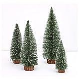ODJOY-FAN 1PC Mini Weihnachtsbaum Weihnachten Baum Dekoration Stock Weiß Zeder Desktop Klein Weihnachten Baum Dekor 10cm/15cm/20cm/25cm/30cm(Grün,10 CM)