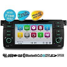 YINUO 1DIN 7 Pulgadas 800 * 480 Pantalla Táctil In Dash Navegación Por Satélite Reproductor De DVD GPS Con Bluetooth USB Para BMW Serie 3 E46 Y M3 1998-2006 BMW E46 3ER 318 320 325