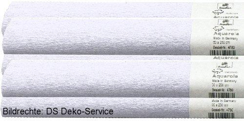 Preisvergleich Produktbild Aquarola Krepp-Papier,  weiß wasserfest,  per 10er Set,  Lieferung Frei Haus.