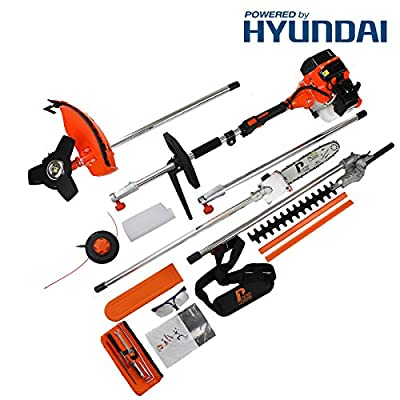 P1PE P5200MT 52cc Hyundai Powered Petrol Garden Multi Tool, Orange