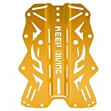 Alomejor Diving Back Plate Metal Diving Backplate Tauchen Sie weiter(Gold)